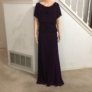 Jessica Howard Cape A-Line Gown